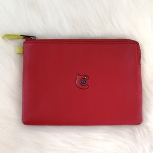Coach 31 Red Leather Large Clutch Pouch